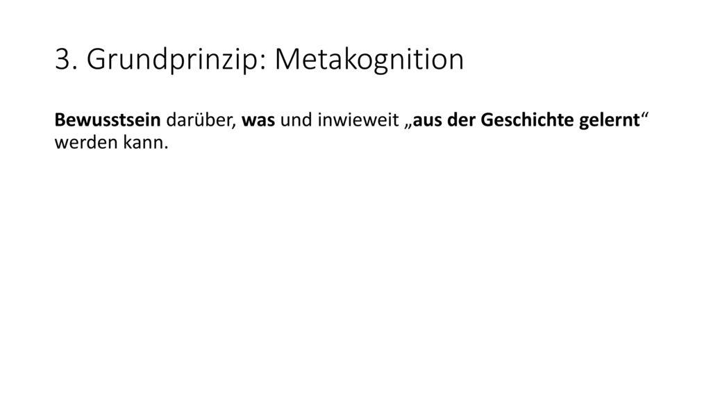 3. Grundprinzip: Metakognition