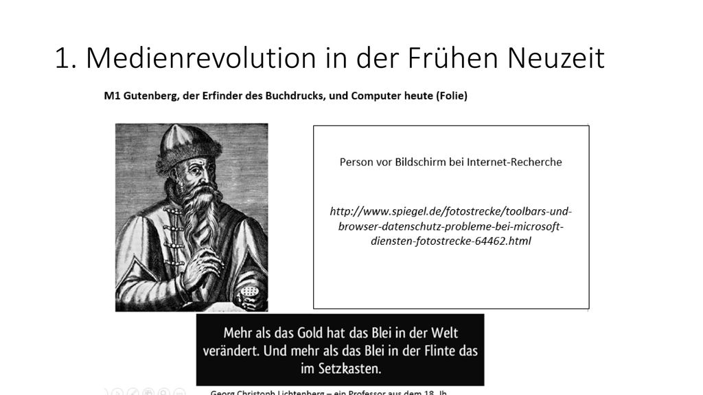 1. Medienrevolution in der Frühen Neuzeit