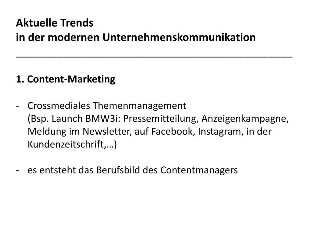 Aktuelle Trends in der modernen Unternehmenskommunikation