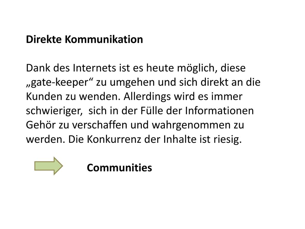 Direkte Kommunikation