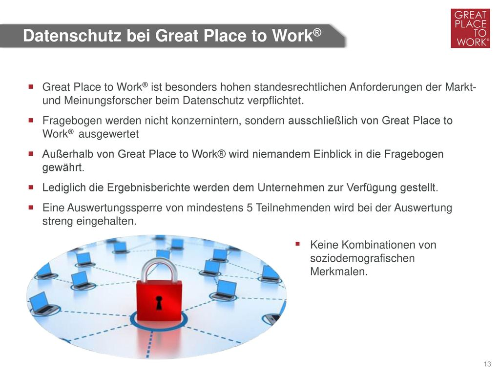Datenschutz bei Great Place to Work®