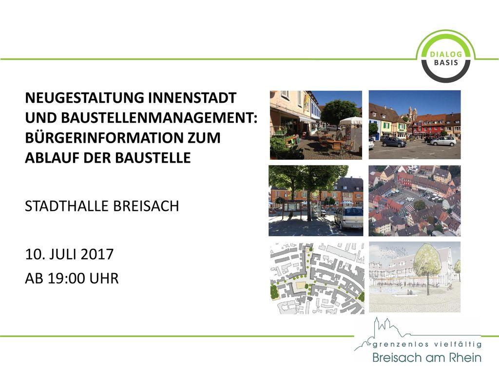 Neugestaltung Innenstadt und Baustellenmanagement: Bürgerinformation zum Ablauf der Baustelle