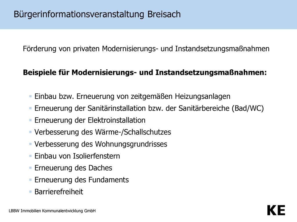 Bürgerinformationsveranstaltung Breisach