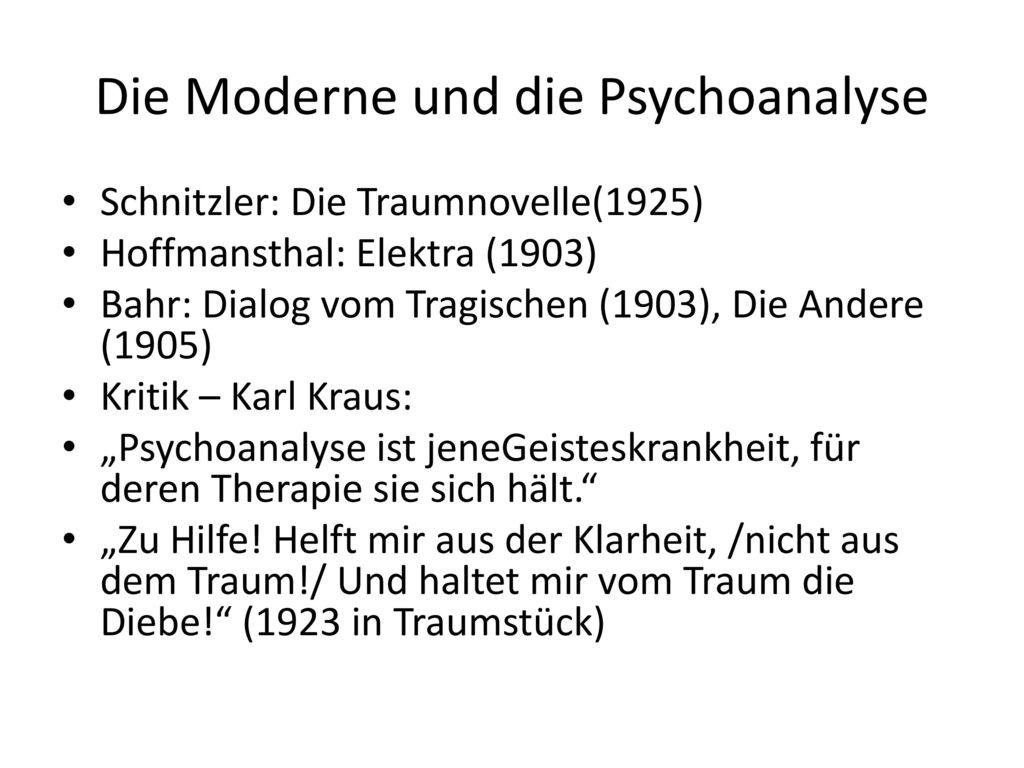 Die Moderne und die Psychoanalyse