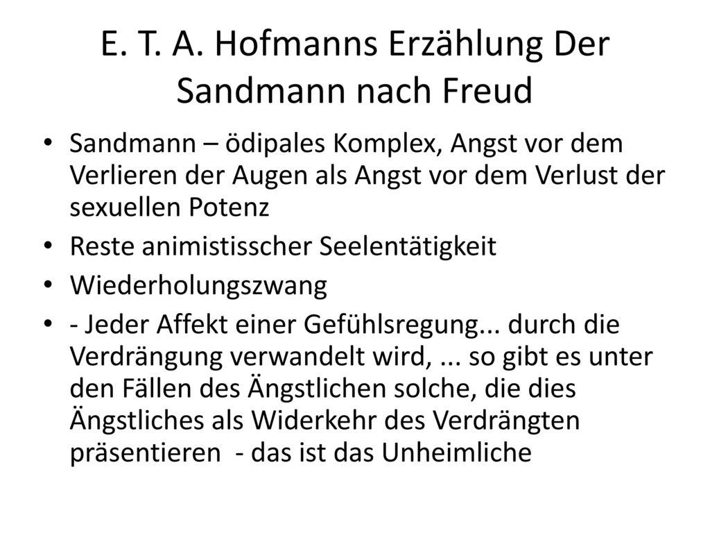 E. T. A. Hofmanns Erzählung Der Sandmann nach Freud