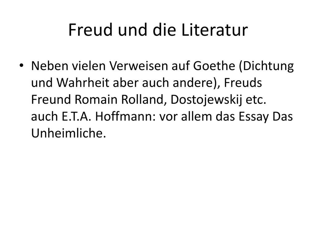 Freud und die Literatur