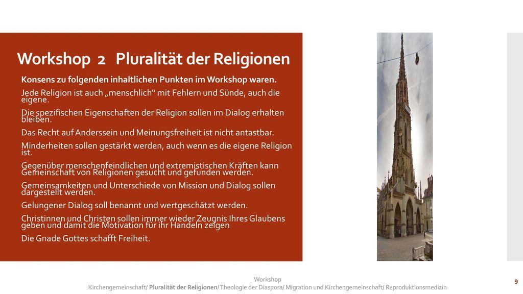 Workshop 2 Pluralität der Religionen
