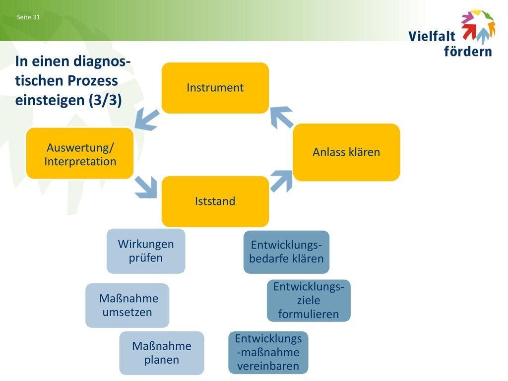 In einen diagnos- tischen Prozess einsteigen (3/3) Instrument