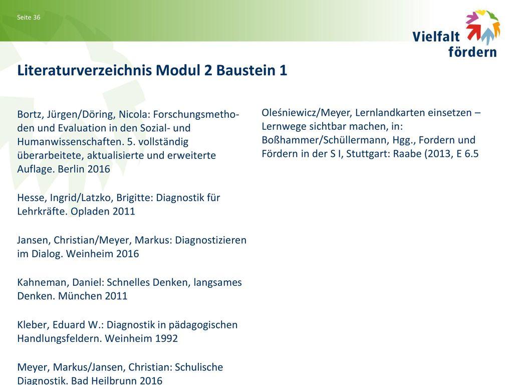Literaturverzeichnis Modul 2 Baustein 1