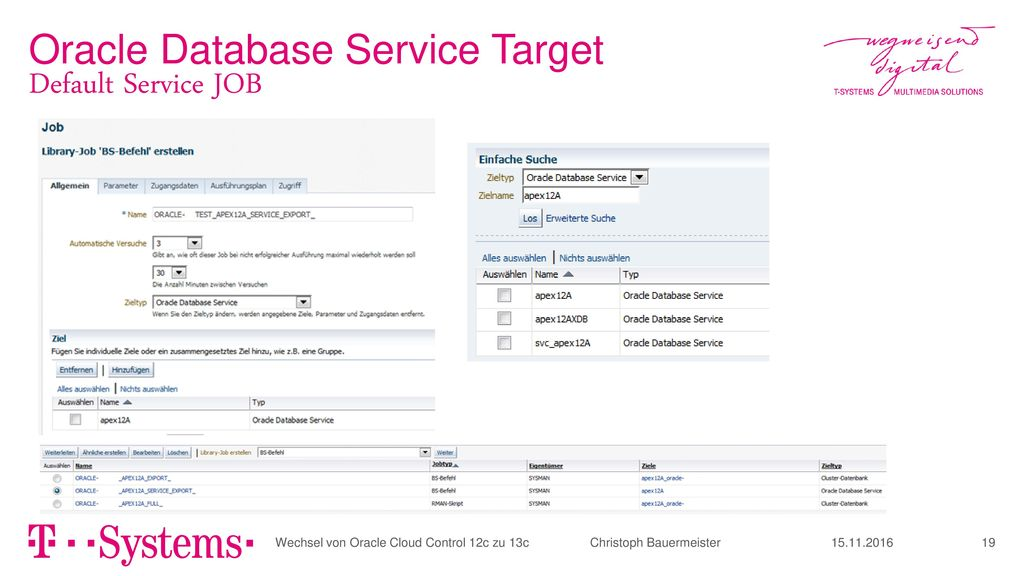 Oracle Database Service Target