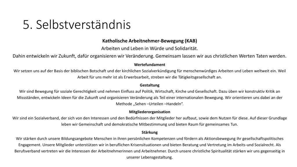Katholische Arbeitnehmer-Bewegung (KAB) Mitgliederorganisation
