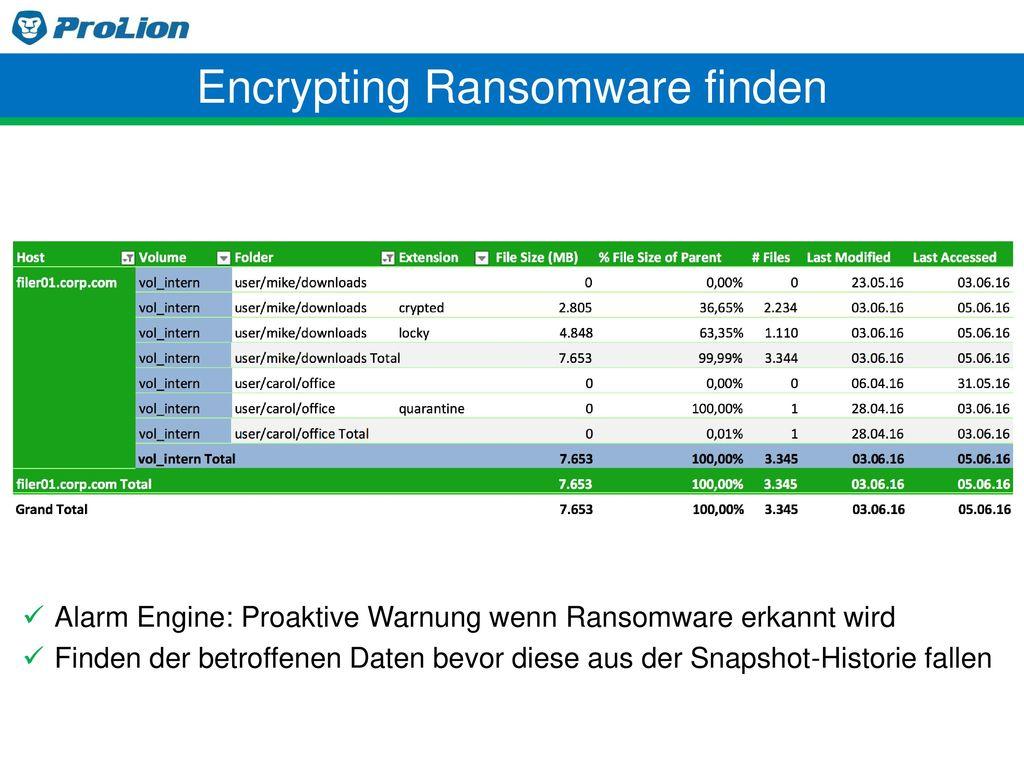 Encrypting Ransomware finden