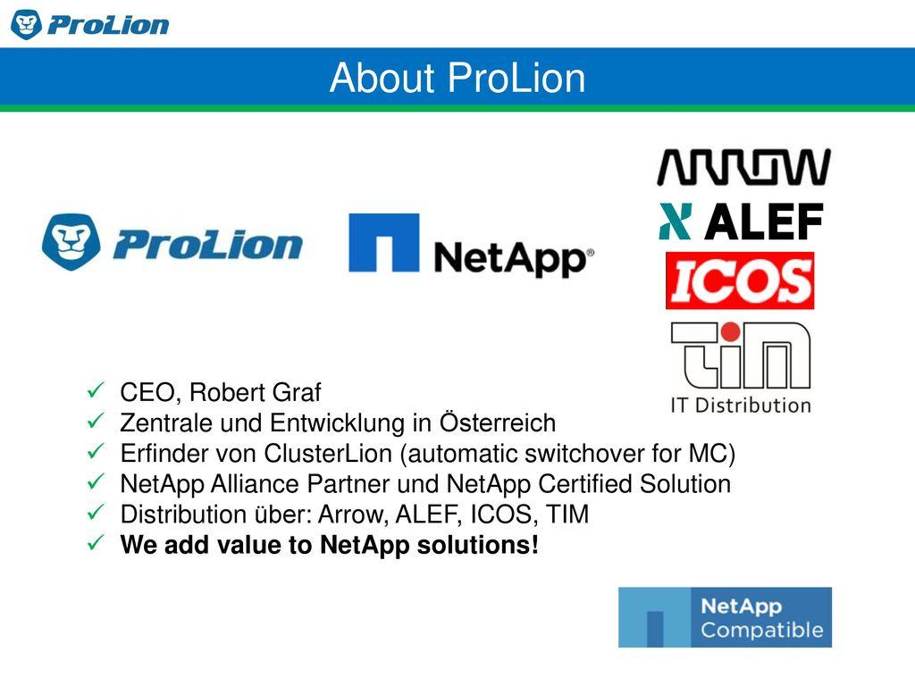 About ProLion CEO, Robert Graf Zentrale und Entwicklung in Österreich