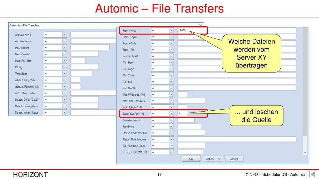 Automic – File Transfers