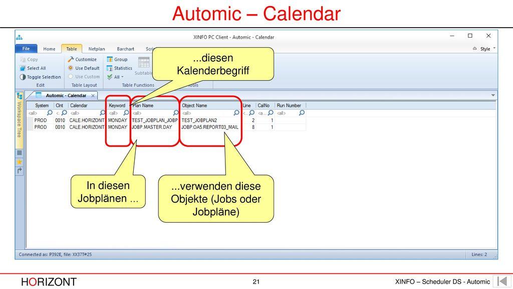 Automic – Calendar ...diesen Kalenderbegriff In diesen Jobplänen ...