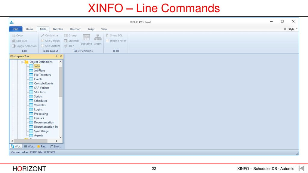 XINFO – Line Commands
