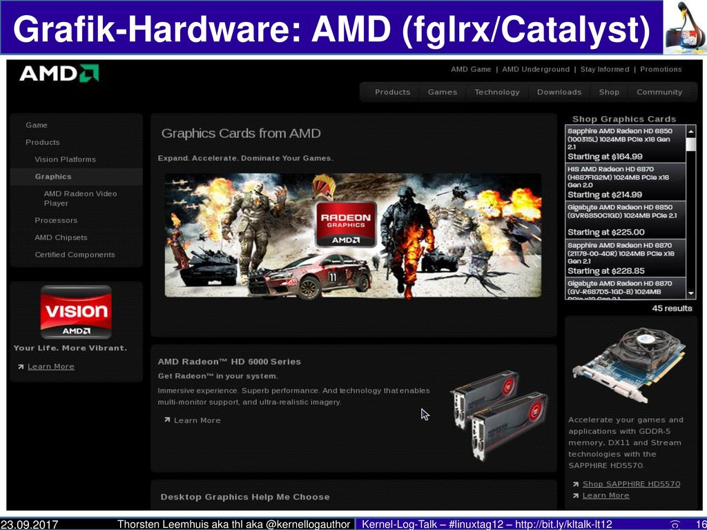 Grafik-Hardware: AMD (fglrx/Catalyst)