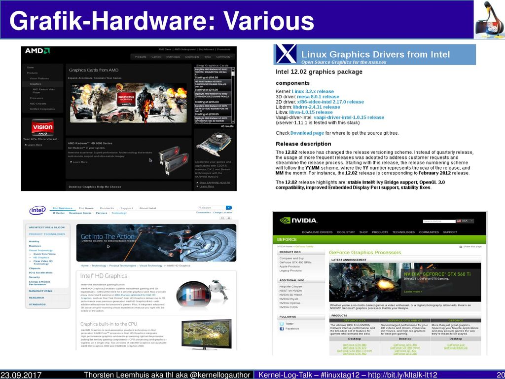 Grafik-Hardware: Various
