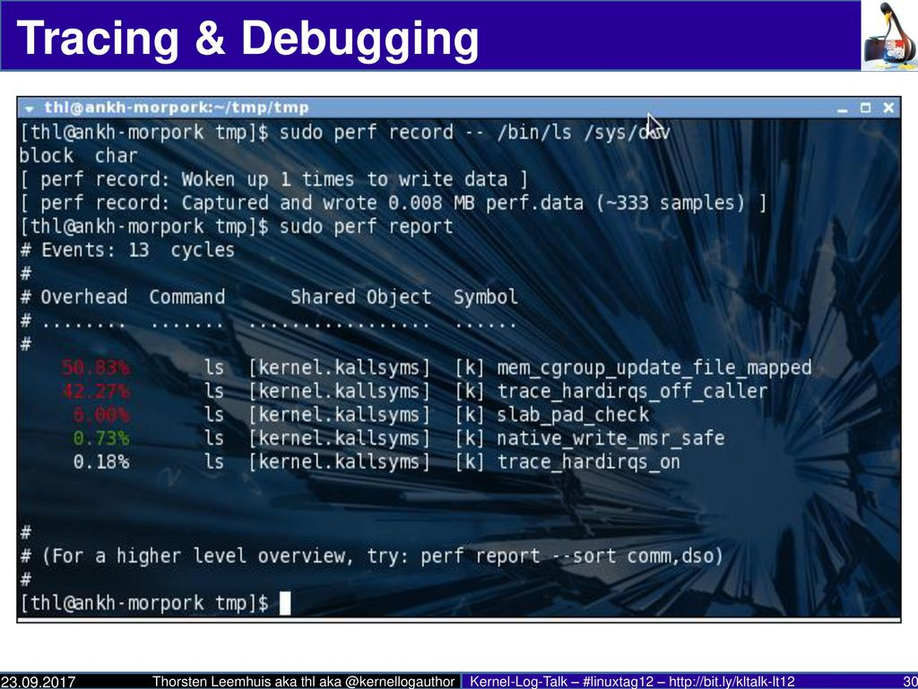 Tracing & Debugging * a whole lot happening here * 3.4 Ftrace for Perl