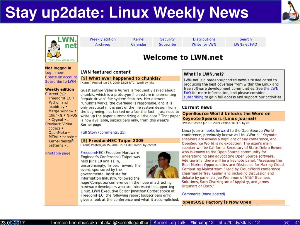 Stay up2date: Linux Weekly News