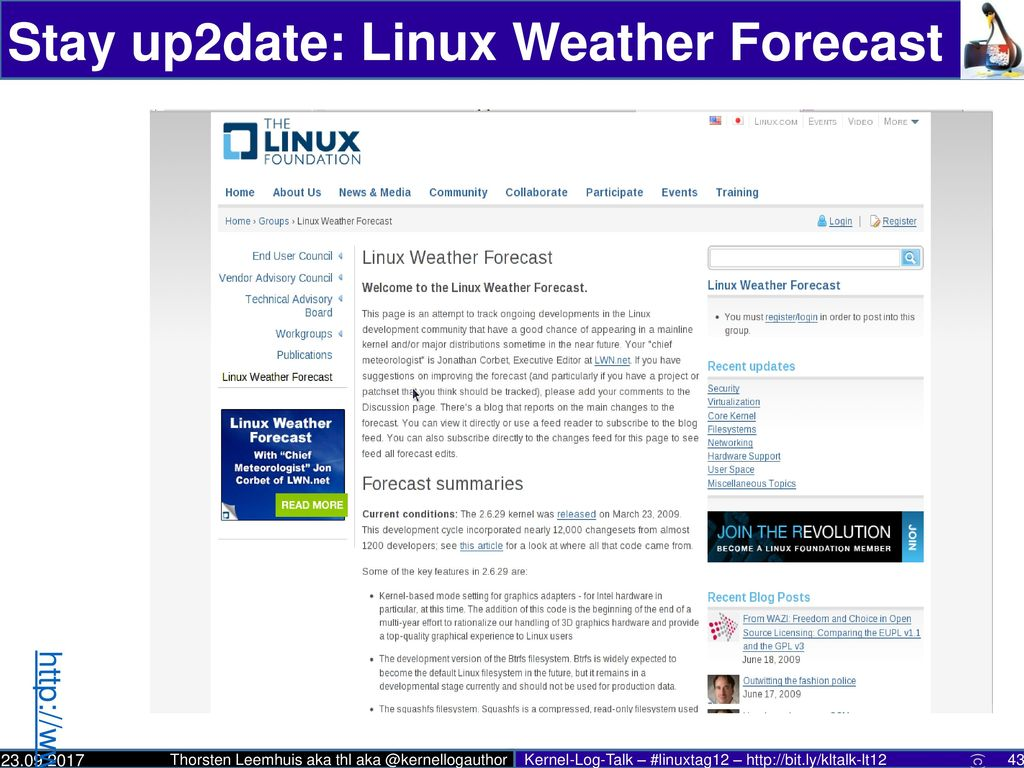 Stay up2date: Linux Weather Forecast
