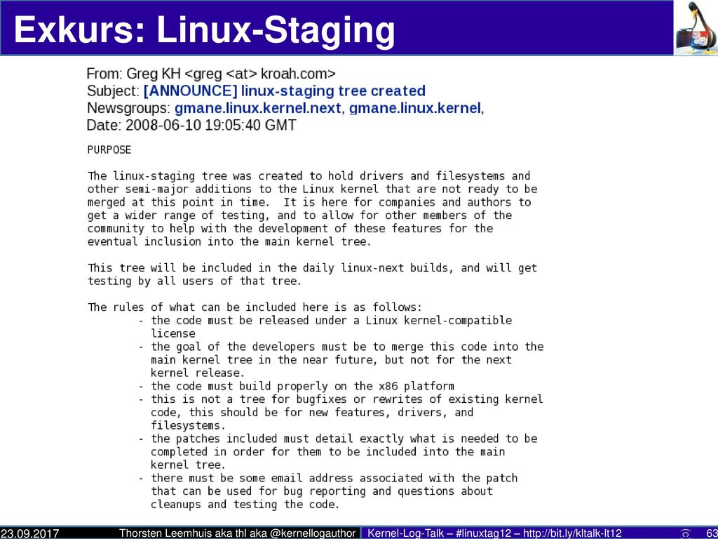 Exkurs: Linux-Staging