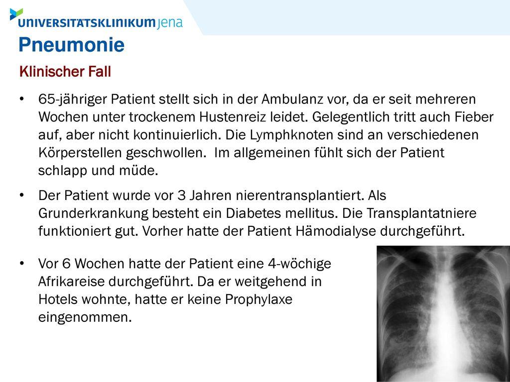 Pneumonie Klinischer Fall