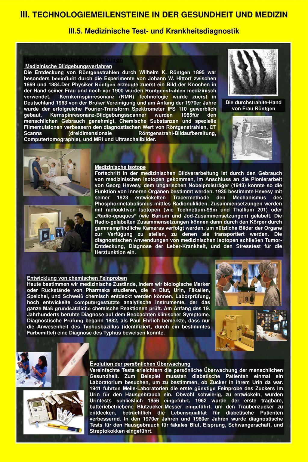 III. TECHNOLOGIEMEILENSTEINE IN DER GESUNDHEIT UND MEDIZIN
