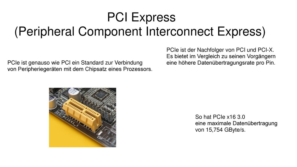 (Peripheral Component Interconnect Express)