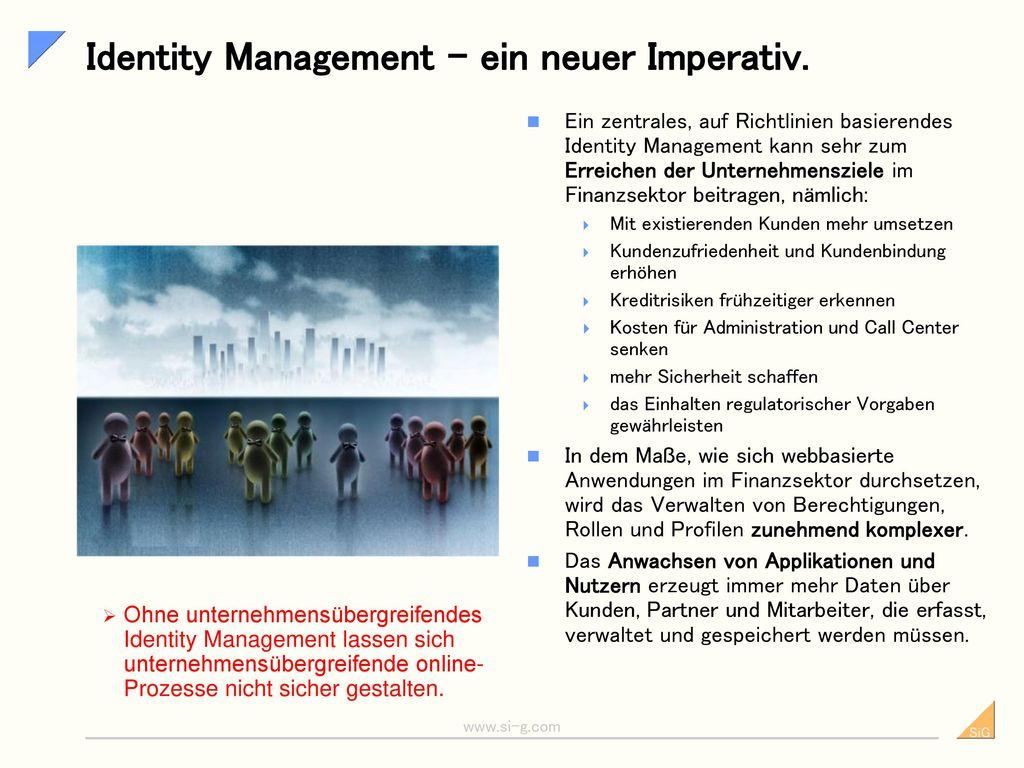 Identity Management – ein neuer Imperativ.
