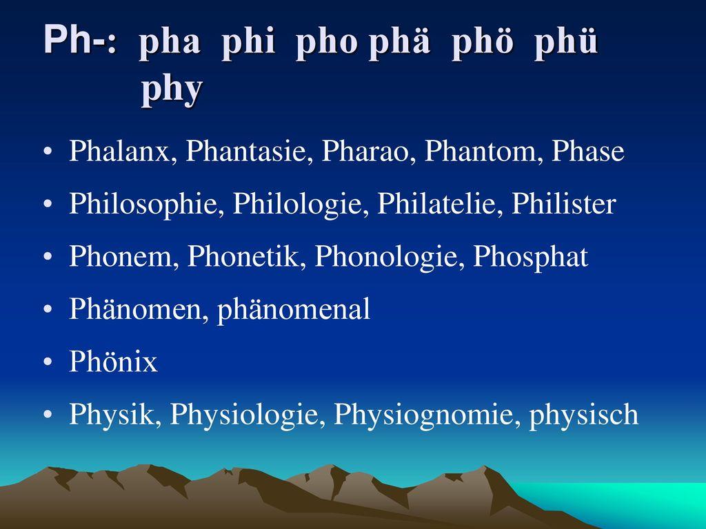 Ph-: pha phi pho phä phö phü phy