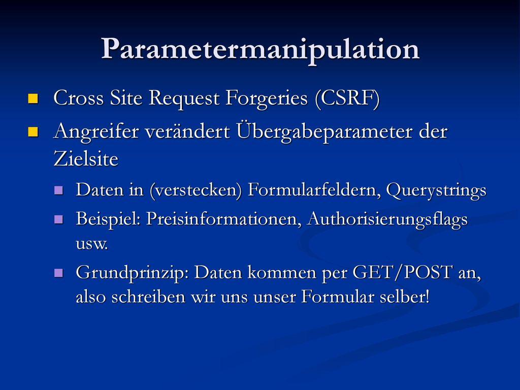 Parametermanipulation