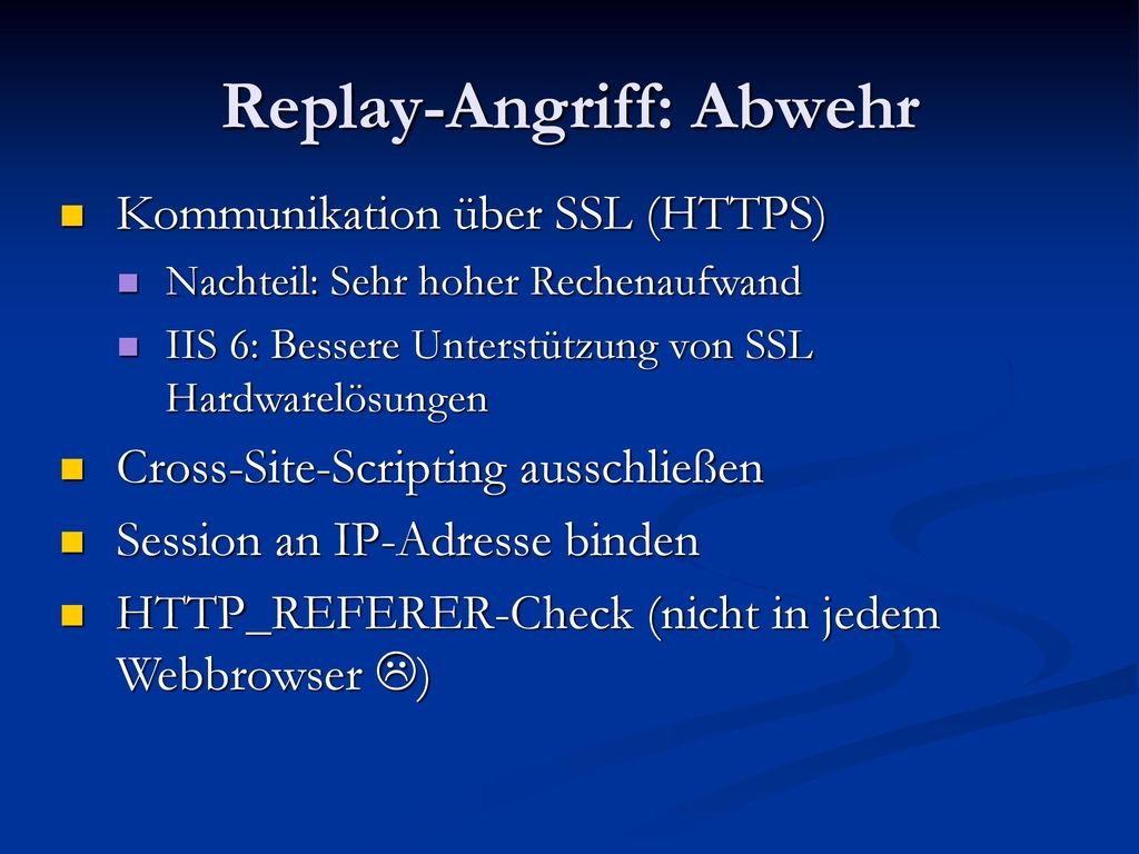 Replay-Angriff: Abwehr