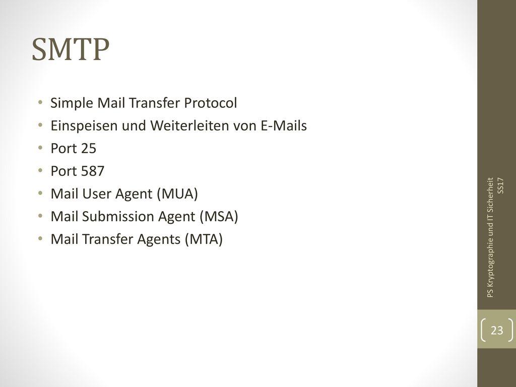 SMTP Simple Mail Transfer Protocol