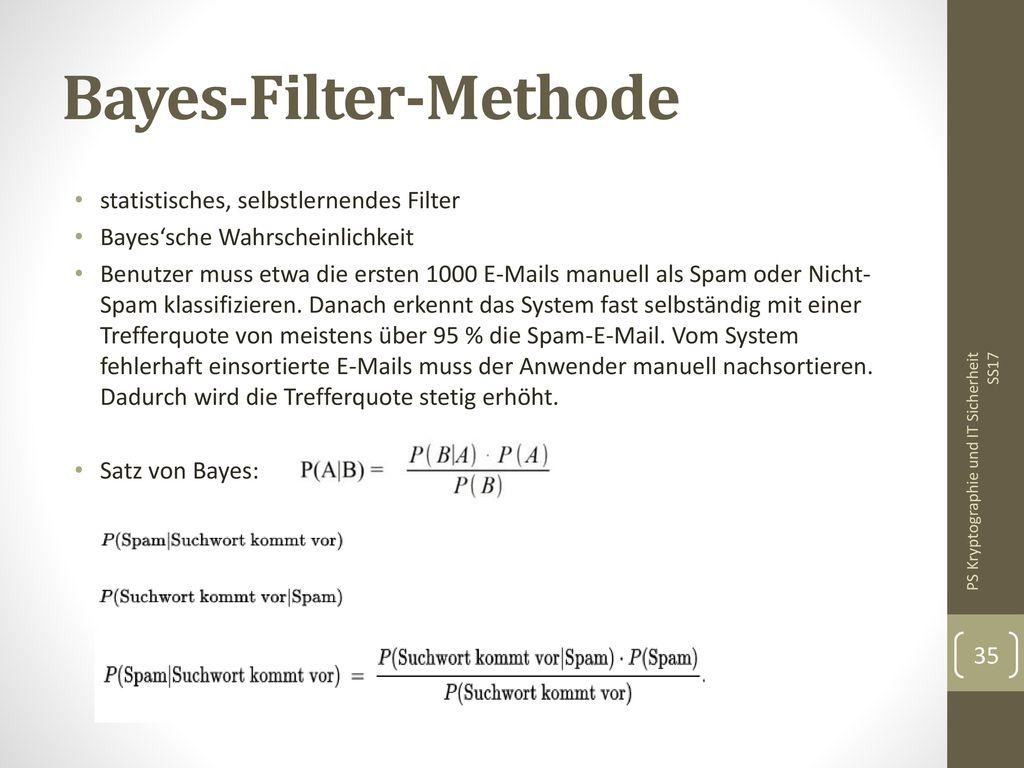 Bayes-Filter-Methode