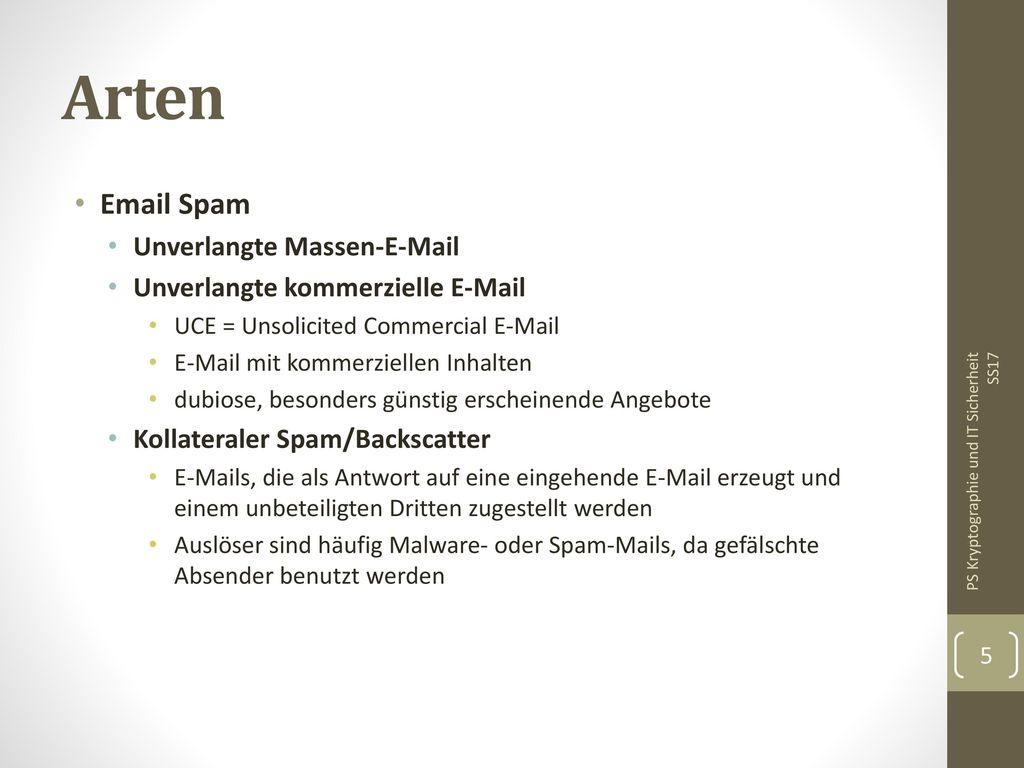 Arten Email Spam Unverlangte Massen-E-Mail
