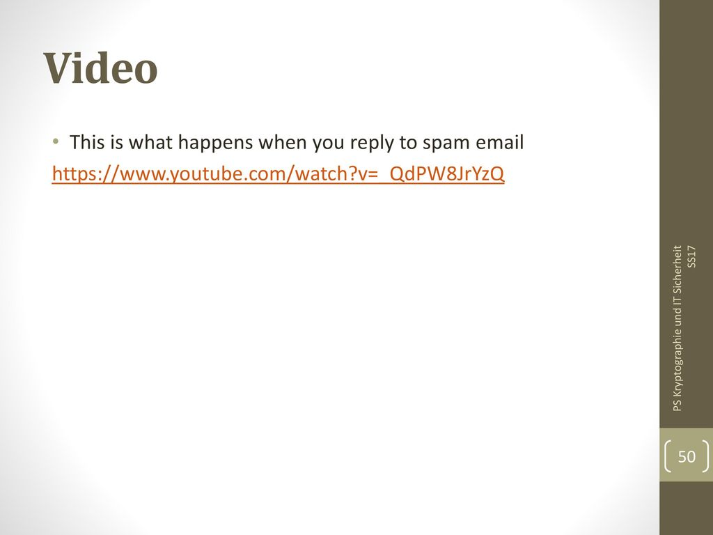Video This is what happens when you reply to spam email