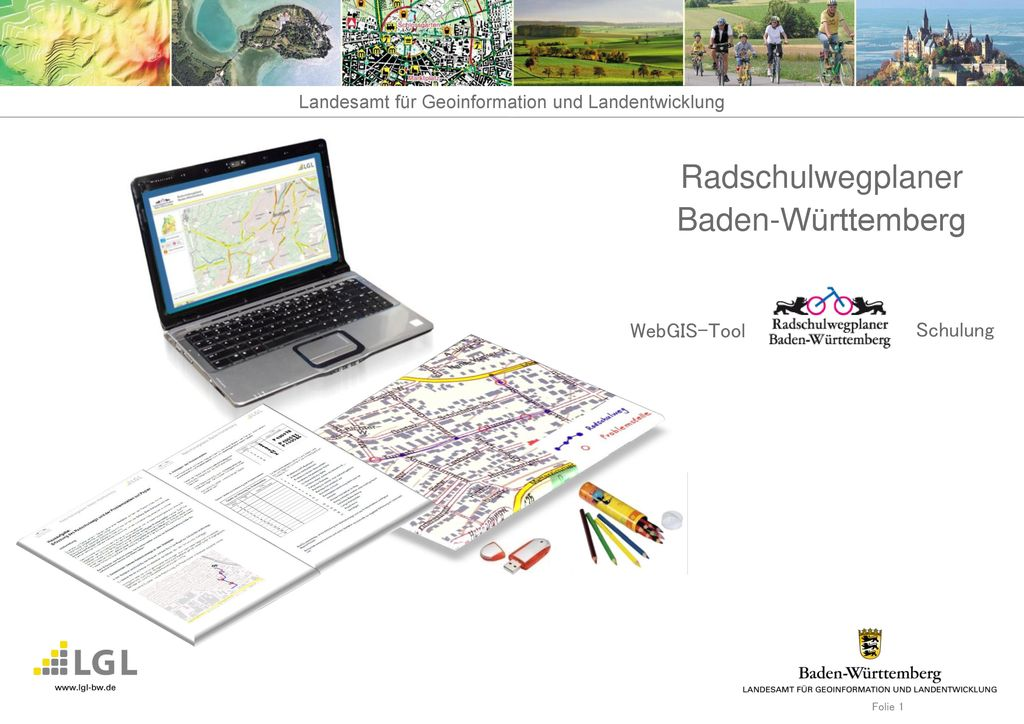 Radschulwegplaner Baden-Württemberg WebGIS-Tool Schulung 1 Folie 1