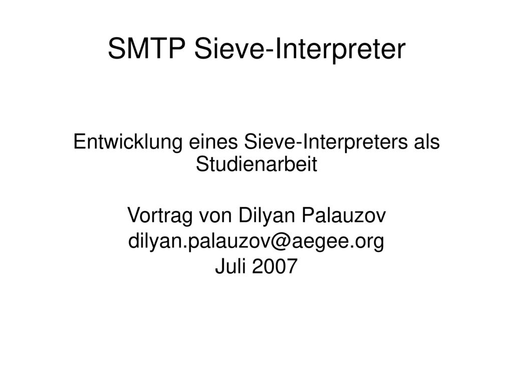 SMTP Sieve-Interpreter