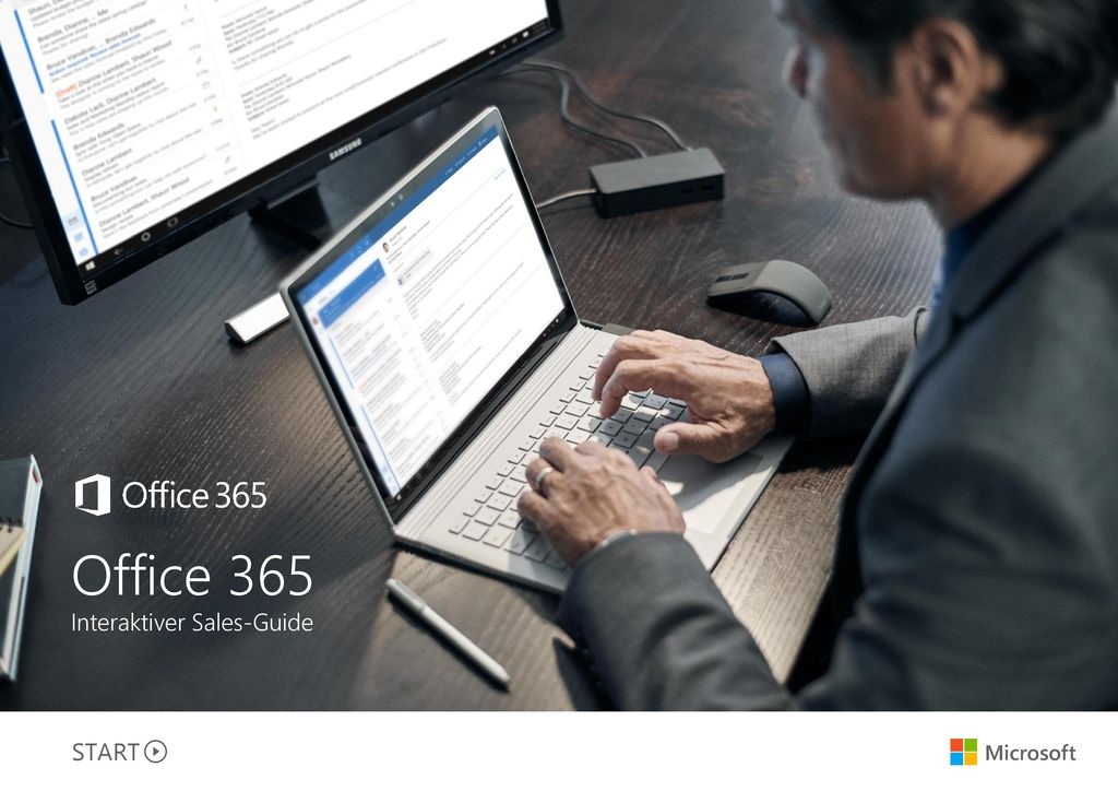 Office 365 Interaktiver Sales-Guide START Microsoft Titel