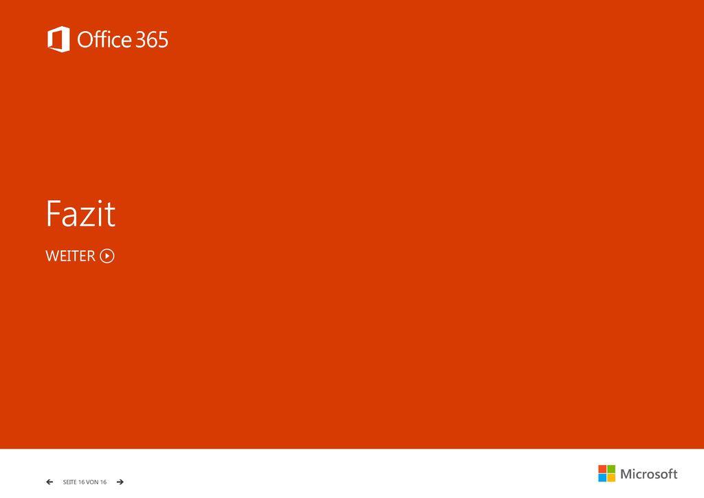 Fazit Fazit WEITER Ausgabe Q3/2015 – Stand 30.09.2015 Microsoft