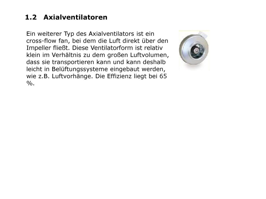 1.2 Axialventilatoren