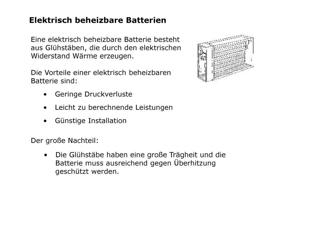 Elektrisch beheizbare Batterien