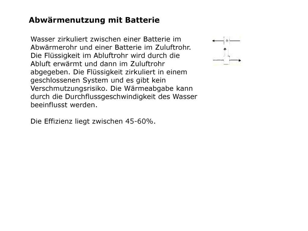Abwärmenutzung mit Batterie
