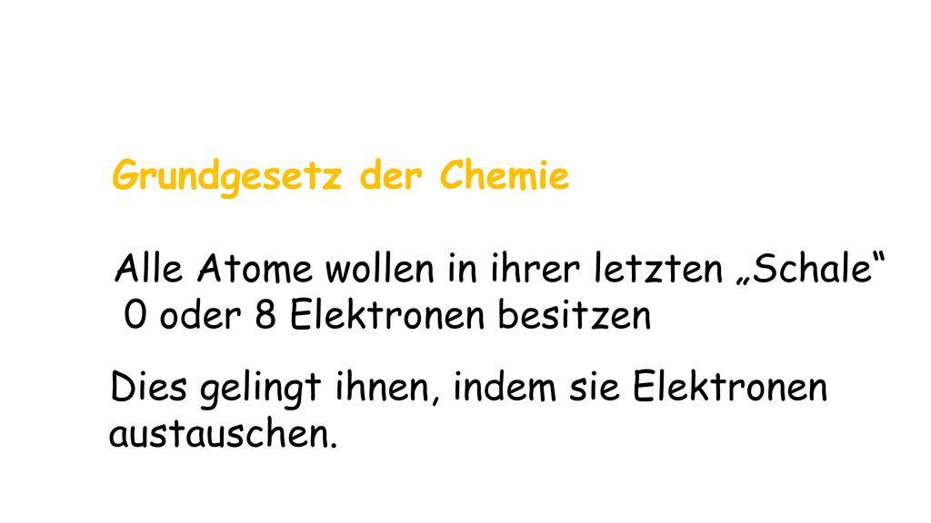 Grundgesetz der Chemie
