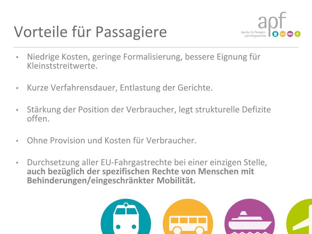Vorteile für Passagiere