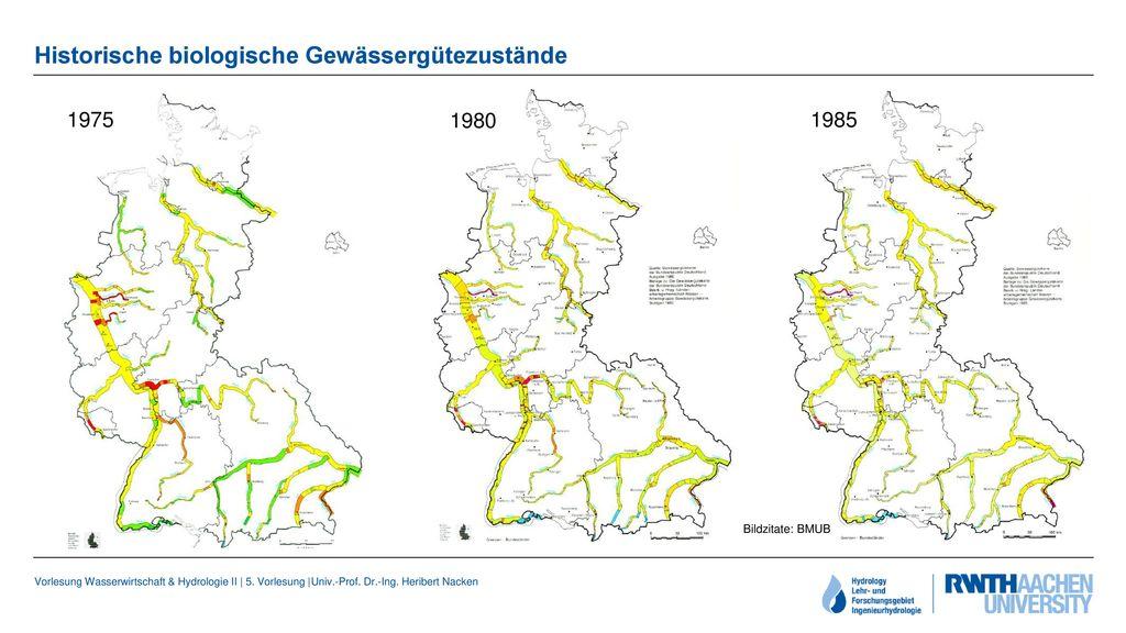 Historische biologische Gewässergütezustände