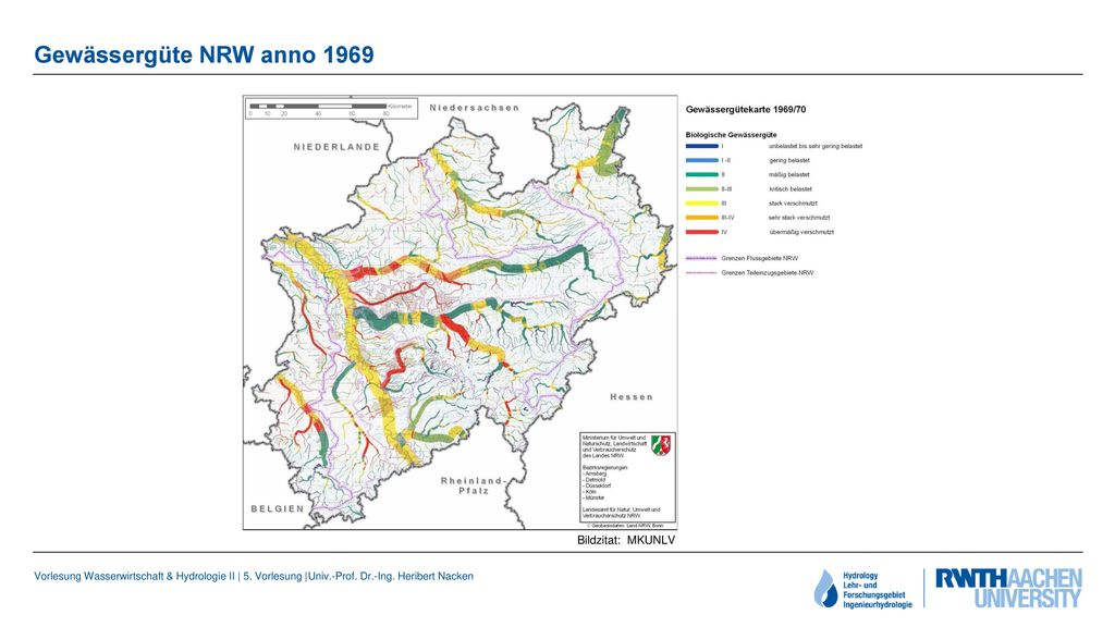 Gewässergüte NRW anno 1969 Bildzitat: MKUNLV