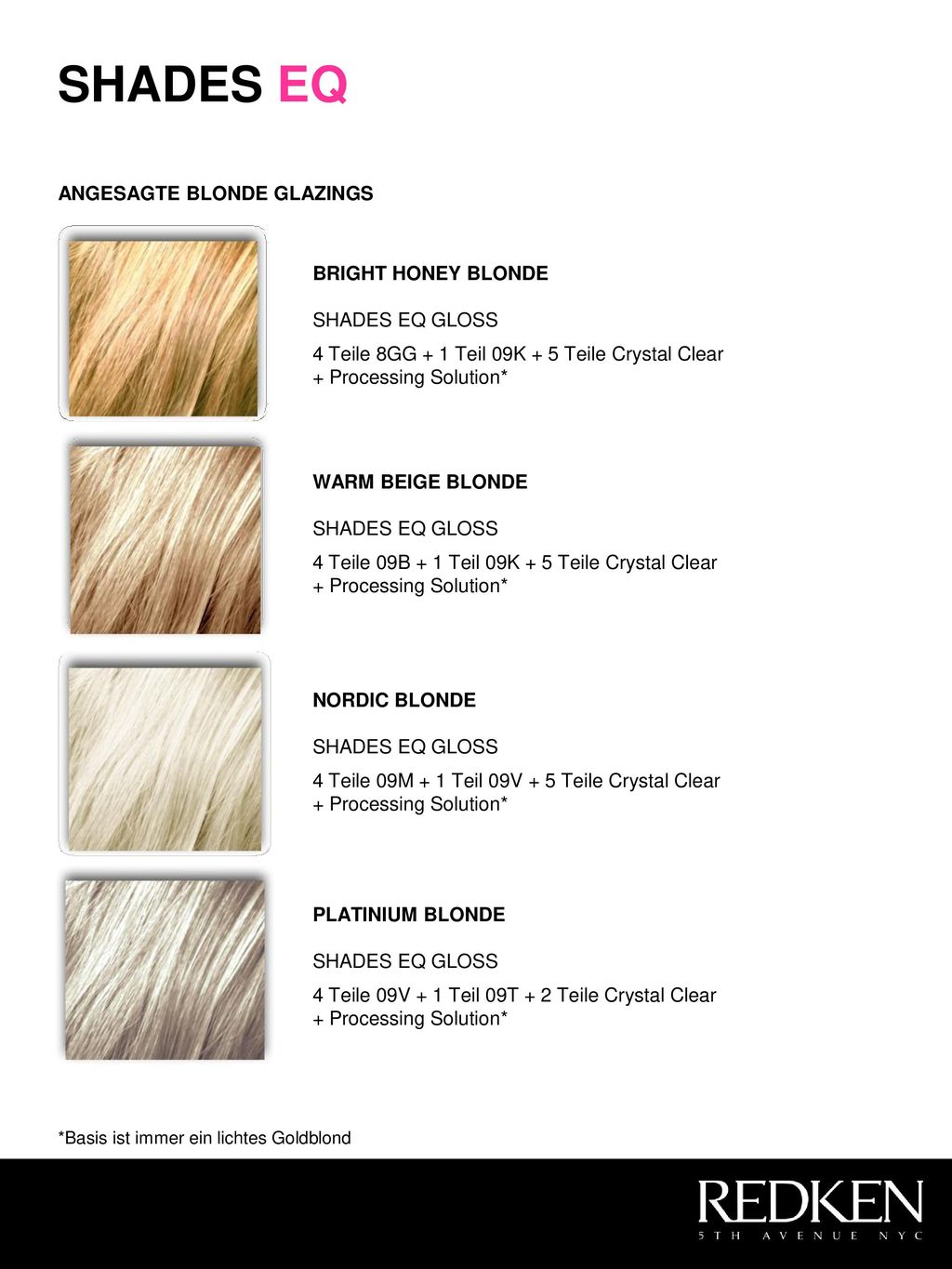 SHADES EQ ANGESAGTE BLONDE GLAZINGS BRIGHT HONEY BLONDE