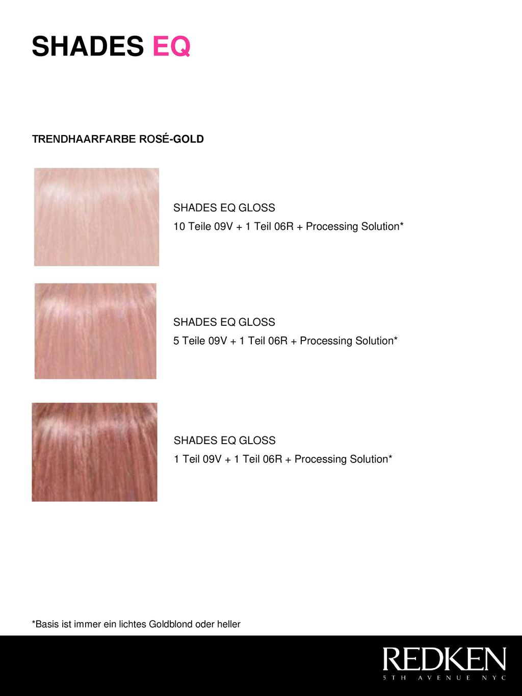 SHADES EQ TRENDHAARFARBE ROSÉ-GOLD SHADES EQ GLOSS